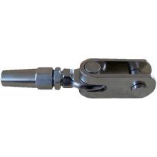 Drošības sistēmas ABS troses uzgalis 6mm (vaļējs)