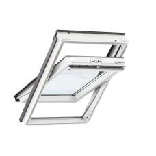 VELUX Standard Plus logs ar rokturi vērtnes augšā un poliuretāna pārklājumu 55 x 78