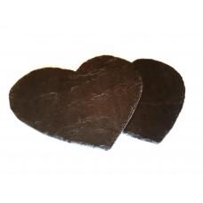 Slānekļa galda paliktnis / servēšanas plate sirds formā 25 cm - 2 gab